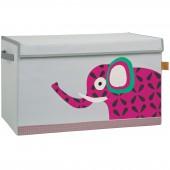 Coffre à jouet caisse de rangement Wildlife Eléphant - Lässig
