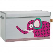 Coffre à jouet caisse de rangement Wildlife Eléphant  par Lässig
