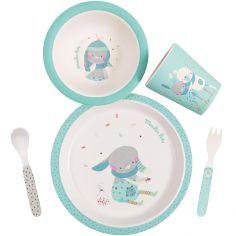 Coffret repas bleu Les jolis trop beaux (5 pièces)