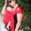 Echarpe de portage Sling Sukkiri rouge  par Lucky