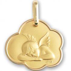 Médaille Ange personnalisable (or jaune 750°)