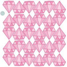 Sticker Diamants rose (modèle intermédiaire)