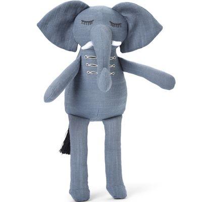 Peluche éléphant Humble Hugo bleu (30 cm)  par Elodie Details