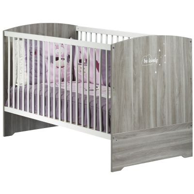 Lit bébé évolutif Little Big Bed Smile chêne silex (70 x 140 cm)  par Baby Price