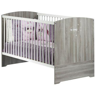 Lit bébé évolutif Little Big Bed Smile chêne silex (70 x 140 cm)  par Baby Price