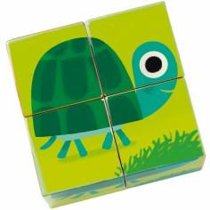 Puzzle cubes Animaux