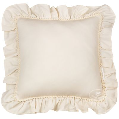 Coussin carré à volants vanille Boho (45 x 45 cm)  par Cotton&Sweets