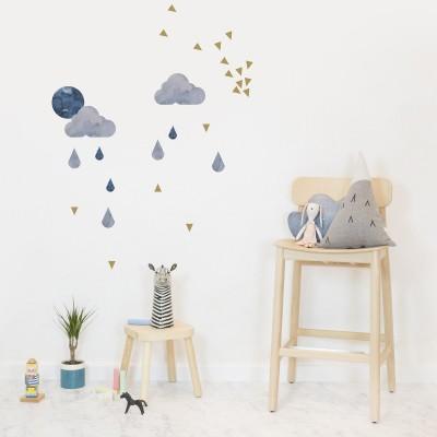 Stickers muraux Nuage gris-bleu  par Chispum