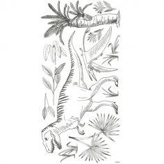 Grand sticker dinosaures et palmiers (130 x 64 cm)