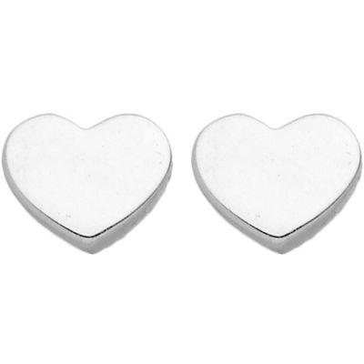 Boucles d'oreilles Coeur (or blanc 375°)  par Berceau magique bijoux