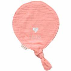 Doudou ballon Rose poudré (personnalisable)