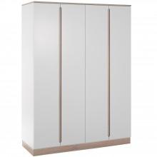 Armoire 3 portes United blanche et naturelle  par Geuther