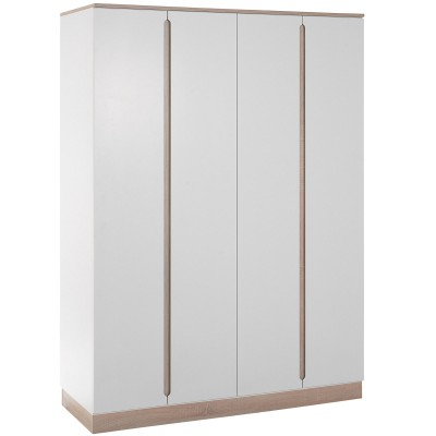 armoire 3 portes united blanche et naturelle geuther. Black Bedroom Furniture Sets. Home Design Ideas