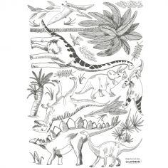Stickers dinosaures et végétaux (29,7 x 42 cm)