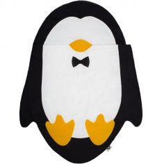 Nid d'ange Pingouin noir et blanc (85 cm)
