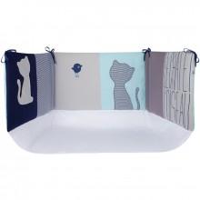 tour de lit mon chat mon oiseau pour lits 60x120 et 70x140cm par sucre d 39 orge. Black Bedroom Furniture Sets. Home Design Ideas