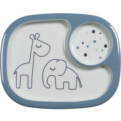 Assiette à compartiments Yummy Dreamy dots bleu  par Done by Deer