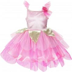 Robe de princesse pétale rose (3-5 ans)