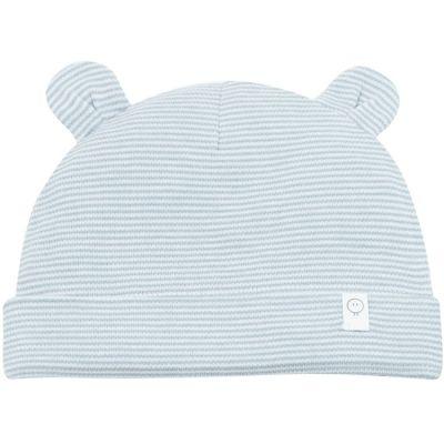 Bonnet oreilles d'ours bleu gris (0-3 mois)  par MORI