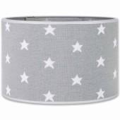 Abat-jour Star gris et blanc (30 cm) - Baby's Only