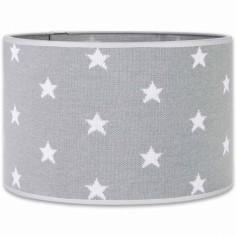 Abat-jour Star gris et blanc (30 cm)
