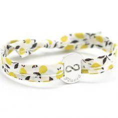 Bracelet Liberty ruban maman infini personnalisable (argent 925°)