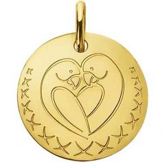 Médaille oiseaux Love Bird (or jaune 750°)