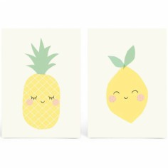 Lot de 2 cartes yellow friends
