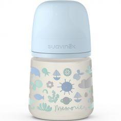 Biberon avec tétine symétrique SX PRO S Memories bleu (150 ml)