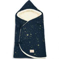 Nid d'ange Cozy Gold stella bleu (75 x 35 cm)