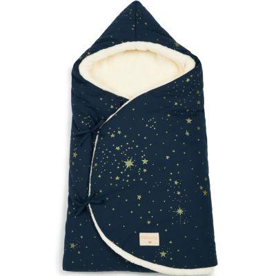 Nid d'ange Cozy Gold stella bleu (75 x 35 cm)  par Nobodinoz