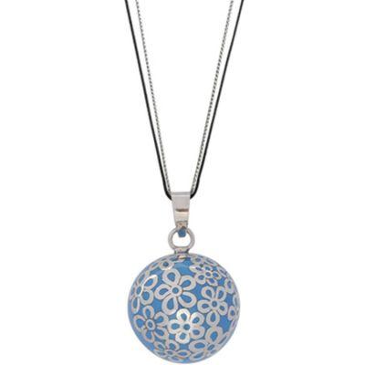 Bola sur cordon Tulee Color bleu clair (argent 925°)  par Nativee
