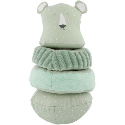 Pyramide en tissu culbuto ours Mr. Polar Bear  par Trixie
