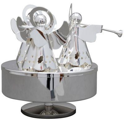 Manège musical Anges (métal argenté)  par Daniel Crégut