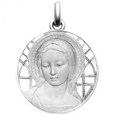 Médaille Vierge Amabilis ajourée (or blanc 750°)