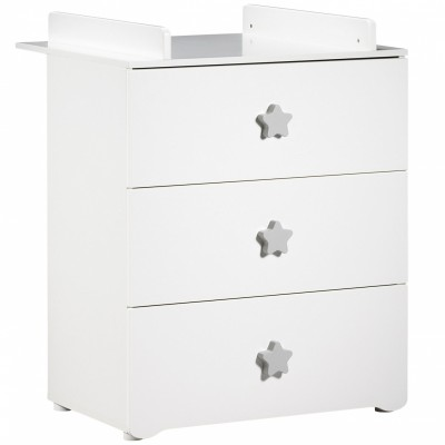 commode langer new basic boutons toile gris baby price. Black Bedroom Furniture Sets. Home Design Ideas
