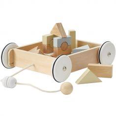 Blocs de construction et wagon