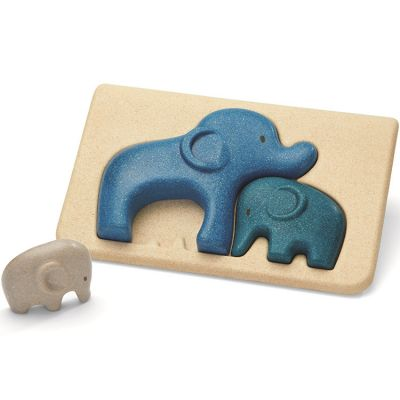 Puzzle à encastrement Mon 1er puzzle Eléphant (3 pièces)  par Plan Toys