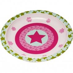 Assiette plate Starlight magenta