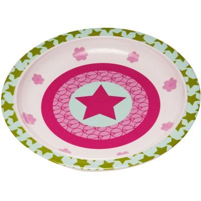 Assiette plate Starlight magenta  par Lässig