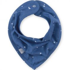 Bavoir bandana constellations Stary bleu jean (25 cm)