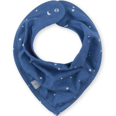 Bavoir bandana constellations Stary bleu jean (25 cm)  par Bemini