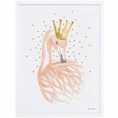 Affiche encadrée flamant rose Flamingo by Lucie Bellion (30 x 40 cm)