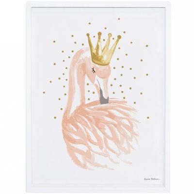 Affiche encadrée flamant rose Flamingo by Lucie Bellion (30 x 40 cm)  par Lilipinso