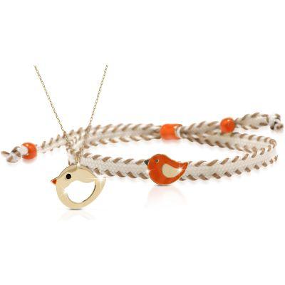 Duo maman enfant Primegioie collier et bracelet Oiseau (or jaune 375°)  par leBebé