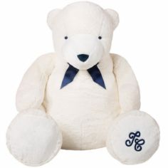 Peluche géante Jean l'ours blanc (110 cm)