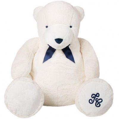 Peluche géante Jean l'ours blanc (110 cm)  par Tartine et Chocolat