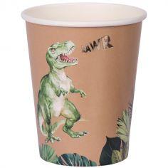 Lot de 8 gobelets en carton Dinosaure Party