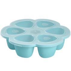 Moule de congélation multi portions silicone bleu (6 x 90 ml)