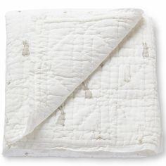 Couverture bébé en coton Saut de lapin (92 x 92 cm)